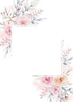 New Flowers Watercolor Art Floral Wreaths Ideas Tier Wallpaper, Flower Background Wallpaper, Trendy Wallpaper, Animal Wallpaper, Nature Wallpaper, Cute Wallpapers, Black Wallpaper, Frame Background, Iphone Wallpapers