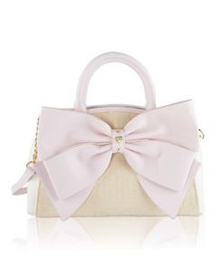 73d400bd7d51 Betsey Johnson Big Bow Raffia Wagon Satchel Shoulder Handbag - Sand -  Fashion s in full bloom