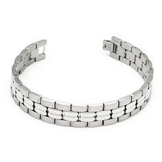 Hpolw Titanium Steel Bangle Silver Link Wristband Chain Mens Bracelets Jewelry Hpolw http://www.amazon.com/dp/B00YAHTQ2M/ref=cm_sw_r_pi_dp_SUM5vb189WH1J