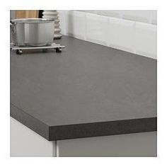 """IKEA - EKBACKEN, Countertop, 98x1 1/8 """", , 25-year Limited Warranty. Read about the terms in the Limited Warranty brochure.Laminate countertops are very durable and easy to maintain. With a little care, they stay like new for many years.The thinner countertop with straight edging strip works perfectly in a modern style kitchen.You can cut the countertop to the length you want and cover the edges with the 2 included edging strips."""
