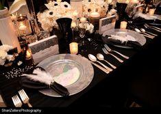 black on black on black. reception decor inspiration. timeless elegance