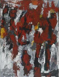 'Peinture Criminelle' (1955) by Armando [Herman Dirk van Dodeweerd]
