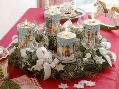 Advent Wreath, Pillar Candles, Wreaths, Table Decorations, Furniture, Home Decor, Xmas, Advent, Candles
