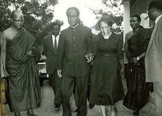 #TodayinGhanaHistory 27 August 1963: W.E.B. DuBois dies in Accra at age 95. He moved to Ghana in 1961 and became a Ghanaian citizen in early 1963. Pictured is President Kwame Nkrumah with Shirley Graham Du Bois, wife of W.E.B. Du Bois, at Du Bois' funeral. ( Abayomi Azikiwe)