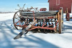 Resting in the snow by Jeff Swan School Farm, Old School, Agricultural Implements, Tractor Implements, Farm Tools, Old Farm Equipment, Horse Farms, Old Trucks, Farming