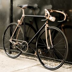 Madison Street Bicycle from Detroit Bicycle Company - Black & Copper plated. Also join this site http://www.plating.company/