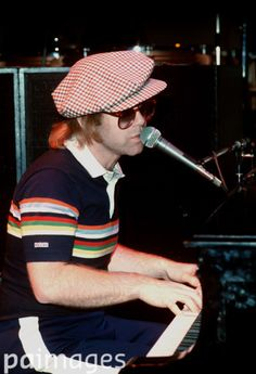 Elton John at Shepperton Studios during rehearsals for his charity concert at the Empire Pool in Wembley, London.