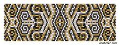 Ещё одна подборка схем плетения из бисера в мозаичной технике — графические и этнические орнаменты
