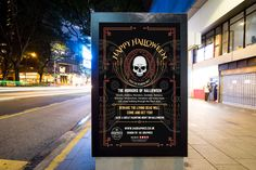 HALLOWEEN 2017 – Outdoor poster display for Halloween 2017 presented on a public street advertising board. #graphicdesign #advertising #marketing #printout #poster #largeposter #banner #advertisingpanel #billboard #streetpanel #Halloween #HalloweenParty