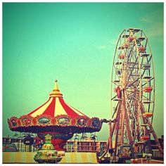 Rides on the Boardwalk in Ocean City, NJ