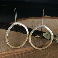 Gold-silver-circle-earrings