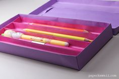 Origami Pencil Tray Instructions - Paper Kawaii - #origami #tray #sections #diy #crafts