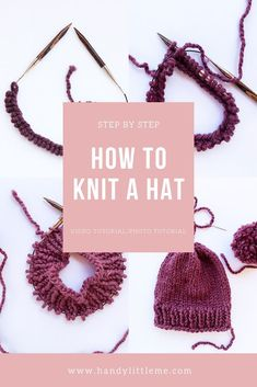 How to knit a hat – if you are a beginner knitter and looking for a first project this is for you! With step by step photographs and a video tutorial, see how easy it is to make a beanie hat knit on circular needles. How to Knit Cables For Beginners Are … Beginner Knitting Patterns, Knitting Blogs, Easy Knitting, Loom Knitting, Knit Patterns, Knitting For Beginners Projects, Knitting Tutorials, Knitting Machine, Stitch Patterns