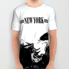 NEW+YORK++All+Over+Print+Shirt+by+Robleedesigns+-+$34.00