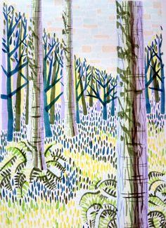 Prints and drawings by Brighton artist Peta Taylor. Peta, A3, Giclee Print, June, Trees, Drawings, Artist, Prints, Cards