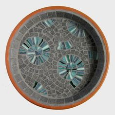 Ammonite Mosaic Garden Bird Bath £28.00