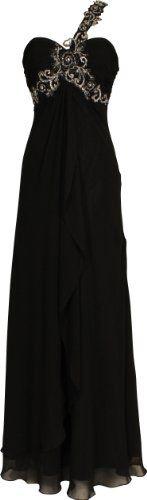 Beaded One-Shoulder Chiffon Long Goddess Gown Prom Dress, Size: XS, Color: Black PacificPlex,http://www.amazon.com/dp/B006KXN21A/ref=cm_sw_r_pi_dp_YoHrsb1DVPAPM50F