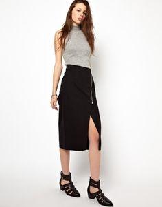 Cheap Monday Zipped Pencil Skirt - nice skirt