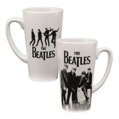 Enjoy two playful shots of The Beatles just as they were starting out pictured on The Beatles 14 oz. Ceramic Latte Mug. Drink up!