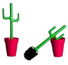 Limpiador de baño en forma de cactus