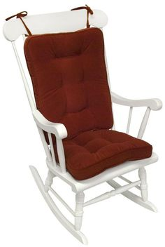 Greendale Home Fashions Standard Rocking Chair Cushion Set - The whole point of a rocking chair is comfort, so go the distance and equip your favorite rocker with the Greendale Home Fashions Standard Rocking Cha. Rocking Chair Cushions, Red Cushions, Rocking Chairs, Porch Chairs, Room Chairs, Standing Desk Chair, High Back Chairs, Oversized Chair, Home Decor Furniture
