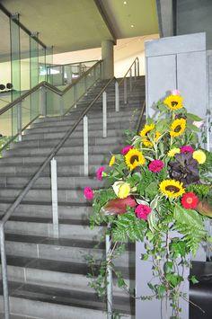 Flower display for a wedding in the Glucksman Gallery. Events, Display, Gallery, Flowers, Wedding, Floor Space, Valentines Day Weddings, Billboard, Roof Rack