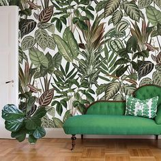Instagram media by rebelwalls - Spring has arrived in Sweden and we can't get enough of green details in our homes right now 💚 #scandinaviandesign #interiordesign #interior #design #wallmural #mural #wallpaper #wallhanging #wallcovering #tapet #tapete #fototapet #fototapete #inredning #interiorstyling #styling #decorate #rebelwalls #storytime #storytimecollection #canape #kanape #svenskttenn #joseffrank #celotocaulis