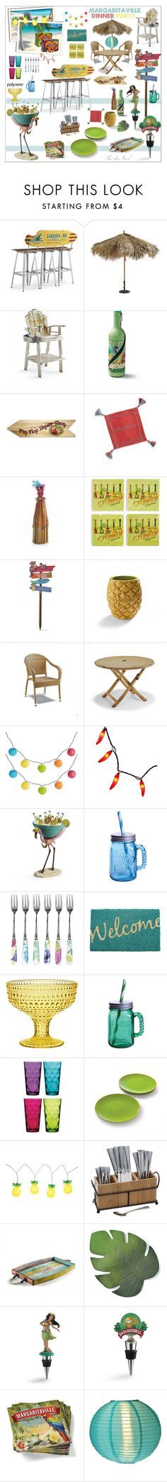"""Margaritaville Dinner Party!"" by theseapearl ❤ liked on Polyvore featuring interior, interiors, interior design, home, home decor, interior decorating, Frontgate, Pier 1 Imports, Fitz and Floyd and Portmeirion"
