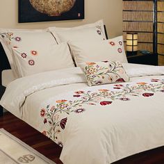 Seasons Collection Belarus Duvet Cover Set in Multicolor - Beyond the Rack Duvet Cover Sets, Bedding Set, Luxury Bedding, Embroidered Bedding, Bed, Duvet Covers, Bed Design, Hand Embroidered Bedspread, Embroidered Duvet Cover