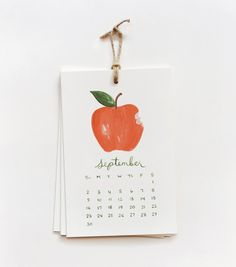 2012 fruit calendar | rifle paper co.