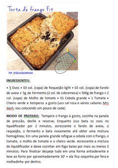 Torta de Frango Fit - Receita Completa na Foto! Espero que gostem!