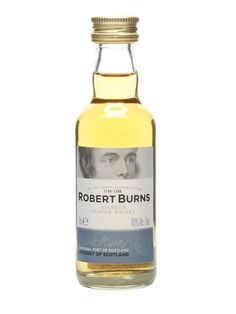 A miniature bottle of Robert Burns blended whisky from Arran distillery, which opened in 1995 and continues to go from strength to strength. Mini Alcohol Bottles Gifts, Mini Bottles, Blended Whisky, Robert Burns, Miniature Bottles, Drinks Cabinet, Arran, Scotch Whisky, Distillery