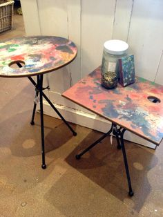 Artist Easel Side Tables! What A Great Idea To Combine The Easel And The  Palette