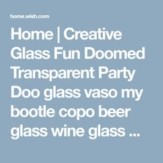Home | Creative Glass Fun Doomed Transparent Party Doo glass vaso my bootle copo beer glass wine glass Mermaid Cup (Cor: Transações)
