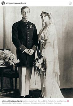 Princess Irina Alexandrovna (niece of Tsar Nicholas ll and daughter of Grand Duchess Xenia Alexandrovna, Nicholas ll's sister), with her husband, Prince Felix Yusupov. Prince Felix was one of the men who played a part in the murder of Grigori Rasputin.
