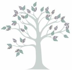 A beautiful tree mural with very little painting required. You can create a tree mural design using the concept from my previous post. Find yourself a tree shape outline. Tree Outline, Tree Templates, Tree Quilt, Home Goods Decor, Tree Shapes, Tree Silhouette, Paint By Number, Tree Wall, Family History