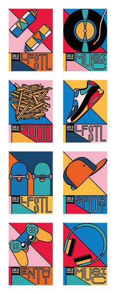 Super Cool Brand Identity for Coolio Mag Graphic Design Posters, Graphic Design Illustration, Graphic Design Inspiration, Digital Illustration, Graphic Art, Pop Art, Diy Canvas Art, Psychedelic Art, Grafik Design