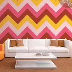 Wall Candy Arts Chevron Removable Wallpaper in Cosmo FREE SHIPPING