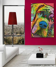 Pet owners and animal enthusiasts alike can cover the walls in furry-friend love with this funky canvas, made using quality materials and fade-resistant inks.