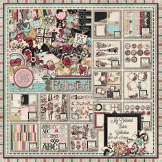 AMAZING VALUE AND GORGEOUS KIT!!!  My Beloved Digital Scrapbook Kit Big by JssScrapBoutique on Etsy, $15.00