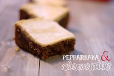 Pepparkakasblondies med clementinglasyr | Heavenly Cupcake