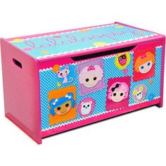 Lalaloopsy Wooden Toy Box Kids Storage Chest Brand New