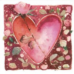 Pink heart by Minna Immonen Key To My Heart, Heart Art, Love Heart, Stillborn Angels, Valentines Illustration, Love Symbols, My Flower, Flowers, My Favorite Color