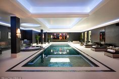 Relaxation: It includes an indoor swimming pool (pictured), gym, steam room, leisure complex and a state-of-the-art 10-seater cinema room