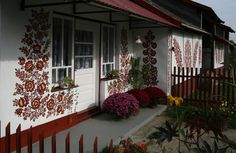 Cheery Floral Folk Art Cover The Houses of Zalipie, Poland | | When On Earth - For People Who Love Travel