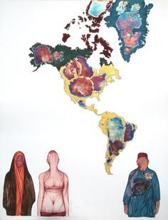 "Pakistani contemporary artist, Akber Ali Gouache on Wasli paper 21"" x 27"""