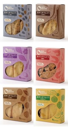 Branding that The Indie Practice love! Chip Packaging, Packaging Snack, Biscuits Packaging, Spices Packaging, Baking Packaging, Bread Packaging, Food Packaging Design, Branding Design, Japanese Packaging