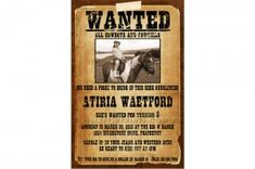 Wanted Poster Invitation Template Free Awesome Wanted Poster Cowboy Birthday Invitations Jellyfish Prints Birthday Party At Home, Turtle Birthday Parties, Cowboy Birthday, Birthday Party Celebration, Cowboy Party, Birthday Ideas, Western Invitations, Birthday Invitations, Invitations Kids