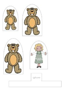 The Three Bears Puppets Fairy Tale Projects, Teddy Bear Day, Reception Class, Story Retell, Goldilocks And The Three Bears, Traditional Stories, Free Preschool, Preschool Ideas, Daycare Crafts