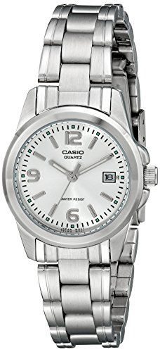 Women's Wrist Watches - Casio Womens LTP1215A7ACR Stainless Steel Watch ** To view further for this item, visit the image link.